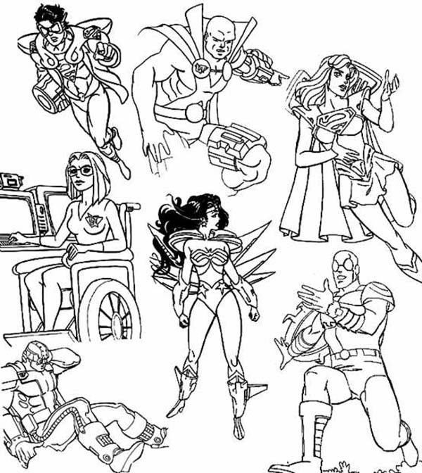 super hero squad and evil villains coloring page netart - Disney Villain Coloring Pages