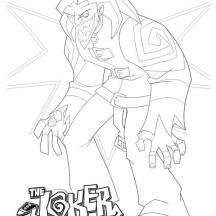 Terrifying Joker Coloring Page