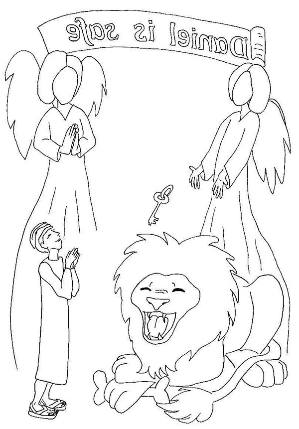 Free Coloring Pages Of Bible Daniel Lions Den