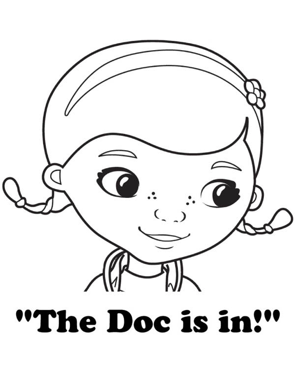 The Doc is in Doc McStuffins Coloring Page NetArt