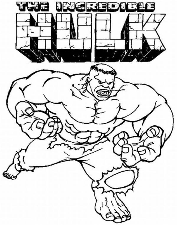 the incredible hulk coloring page
