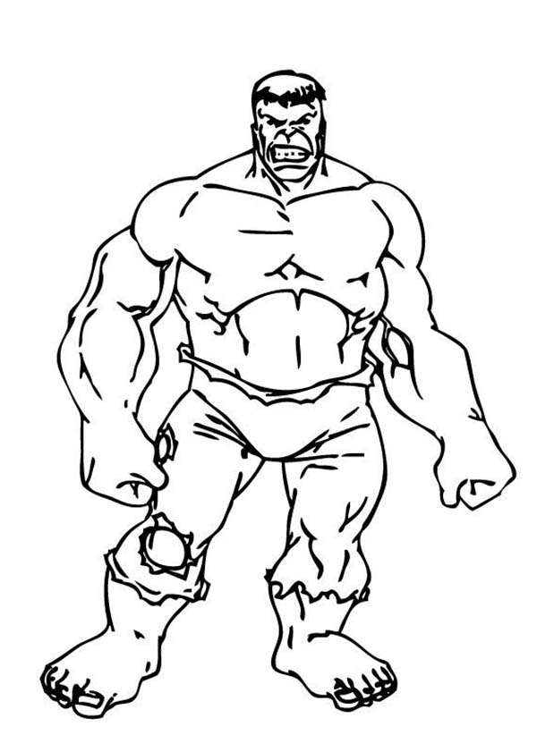 The Incredible Hulk Standing Tall Coloring Page