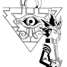 The Millenium Puzzle Yu Gi Oh Coloring Page