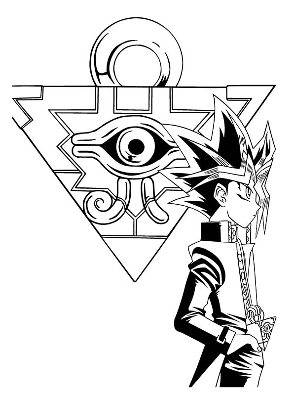The Millenium Puzzle Yu Gi Oh Coloring Page NetArt