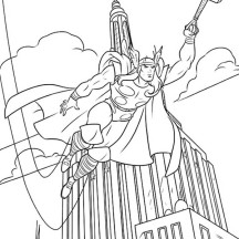 empire state building coloring page - superheroes netart part 3
