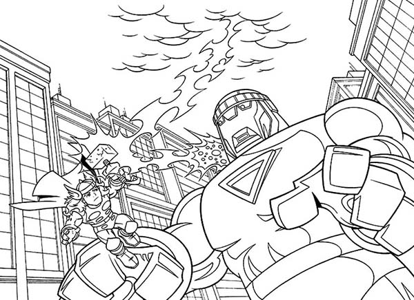 Thor Use Mjolnir in Super Hero Squad Coloring Page NetArt
