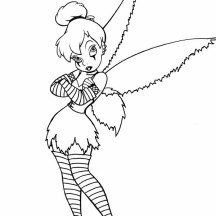 Tinkerbell Costplay Coloring Page