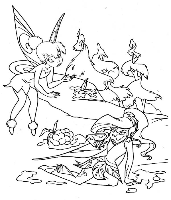 Tinkerbell helping silvermist coloring page netart for Silvermist coloring pages