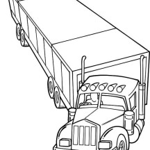 Trailer Semi Truck Coloring Page