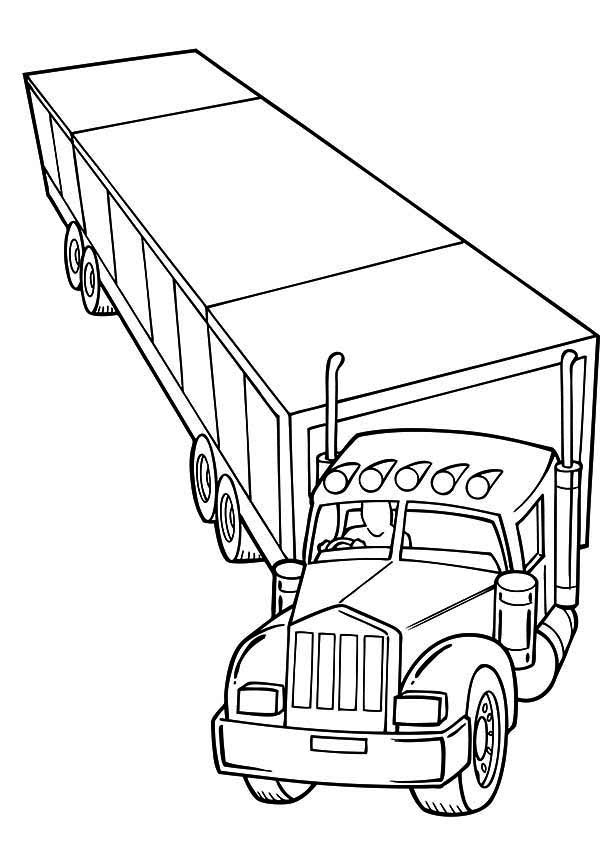 trailer semi truck coloring page netart - Big Truck Coloring Pages Kids