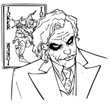 Why So Serious Joker Coloring Page