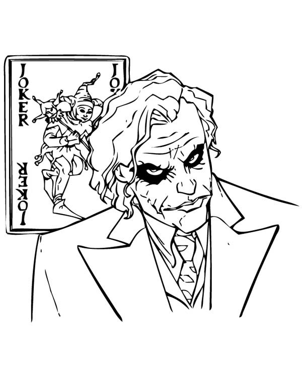 Why So Serious Joker Coloring Page NetArt