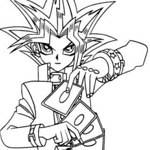Yu Gi Oh The Movie Pyramid of Light Coloring Page