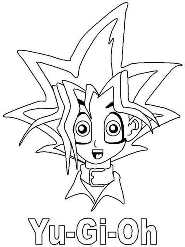 yugi muto surprised in yu gi oh coloring page - Yugioh Coloring Pages