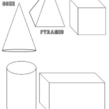 3D Basic Shapes Coloring Page