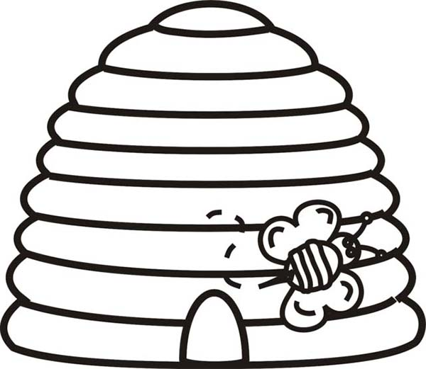 bee hivebee hive Colouring Pages