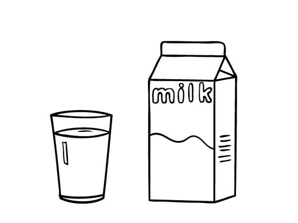 A Glass Of Milk And Carton Coloring Page