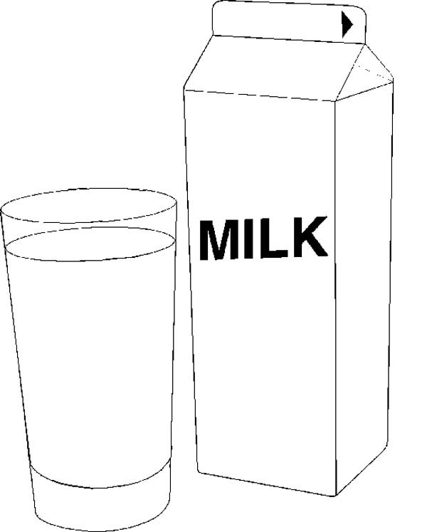 a healthy milk from milk carton coloring page