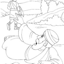 A Traveller Asking for Help in Good Samaritan Coloring Page
