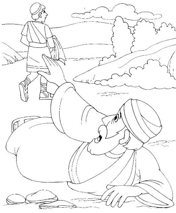 A Traveller Asking for Help in Good Samaritan Coloring Page  NetArt