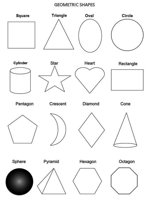 All Geometric Shapes Coloring Page
