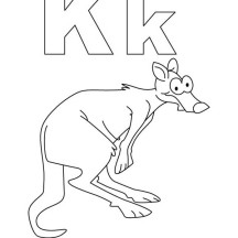 K Is For Kangaroo Coloring Page Alphabet K is for Kangaroo Coloring Page