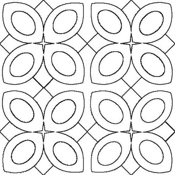 amazing pattern of rangoli coloring page - Rangoli Coloring Pages