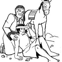 Amazing Story of Good Samaritan Coloring Page