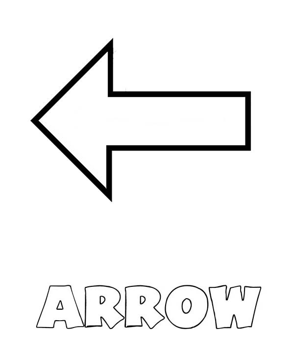 Free coloring pages of curved arrow