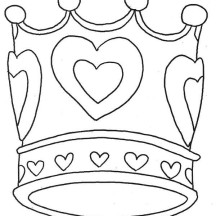 Astonishing Princess Crown Picture Coloring Page