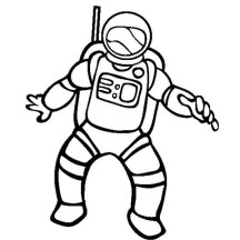 Astronaut Picture of Community Helpers Coloring Page
