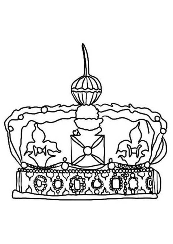 Crown Of England Coloring Page Together With Worksheets For ...