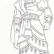 David With Harp Colouring Pages Page 2