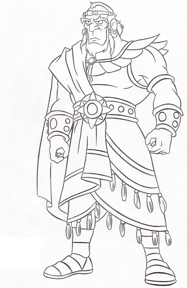 king saul coloring page - king sauls disobedience free coloring pages