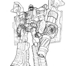 Awesome Megatron Coloring Page