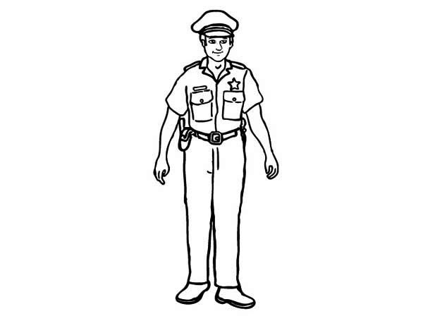Awesome Picture Of Police Officer Coloring Page