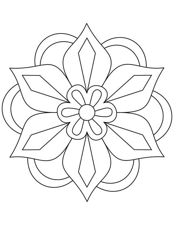 awesome picture of rangoli coloring page - Rangoli Coloring Pages