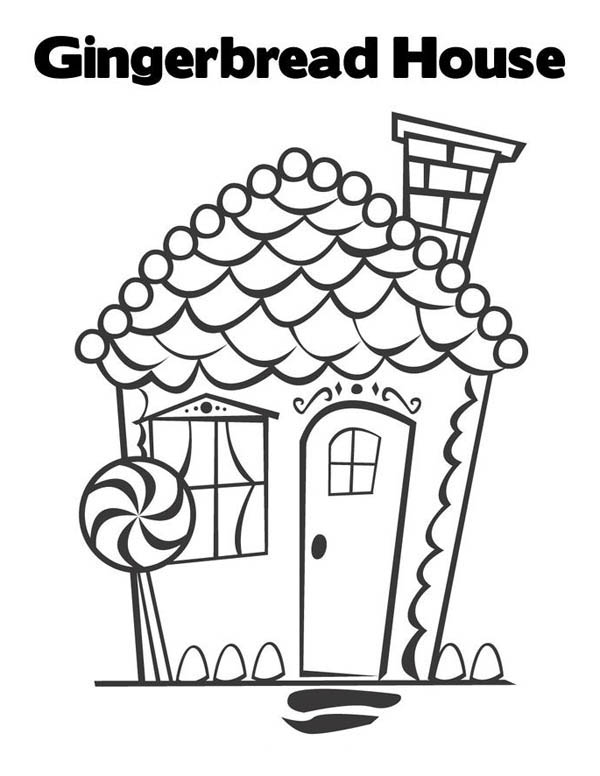 Beautiful Gingerbread House Coloring Page NetArt