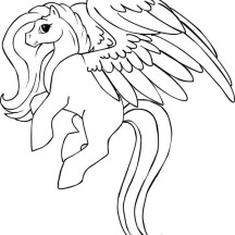 Beautiful Pegasus Coloring Page