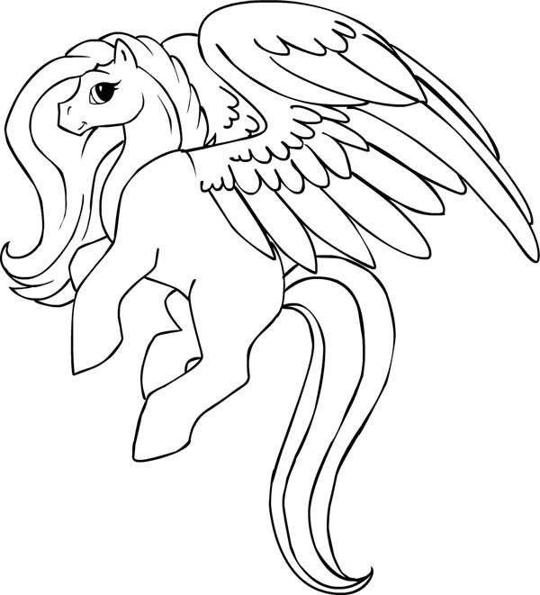 Beautiful pegasus coloring page netart for Coloring pages of pegasus