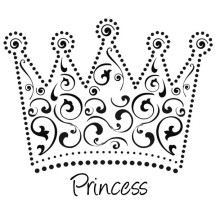 Beautiful Princess Crown Coloring Page