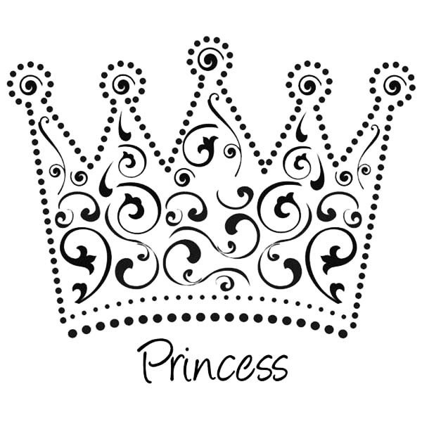 Beautiful Princess Crown Coloring Page  NetArt