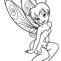 Beautiful Tinkerbell in Pixie Coloring Page