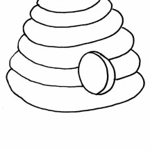 Beehive from the Jungle Coloring Page