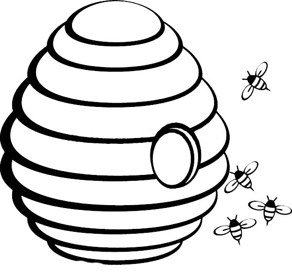 beehive with hole in the middle coloring page netart