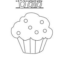 Bolo Cupcake Coloring Page