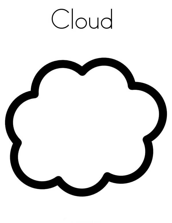 C Is For Clouds Coloring Page