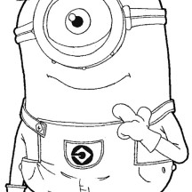Carl The Minion In Despicable Me Coloring Page