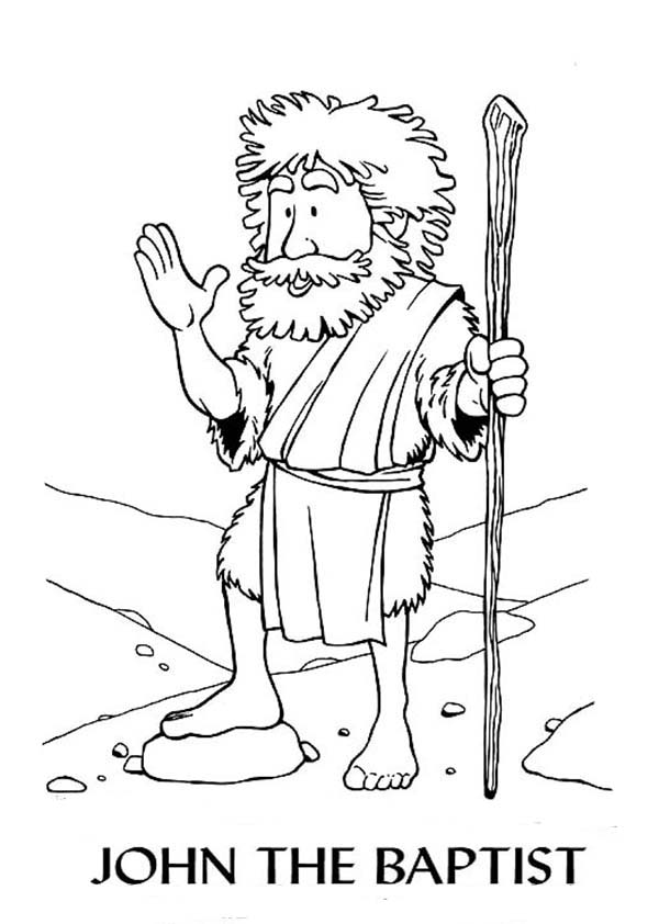 Cartoon of john the baptist coloring page