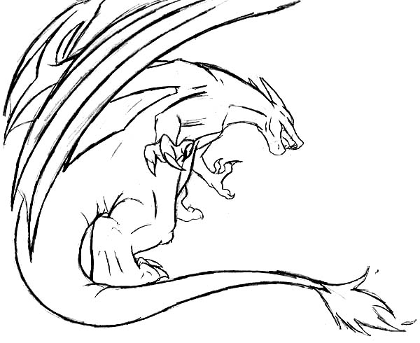 charizard flying attack coloring page - Charizard Coloring Page